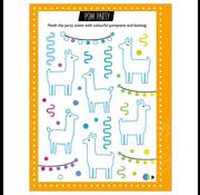 Make Believe Ideas Scratch and Sparkle: Llama Stencil Art