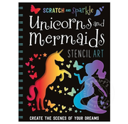Make Believe Ideas Scratch and Sparkle: Unicorns and Mermaids