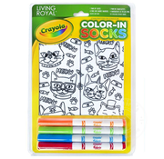 Crayola Color-In Socks Cat Vibes