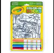 Crayola Color-In Socks Dinosaur Safari