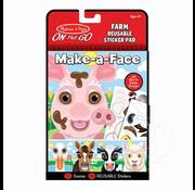 Melissa & Doug Melissa & Doug On the Go Resuable Sticker Pad - Farm Make-a-Face