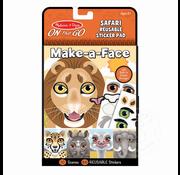 Melissa & Doug Melissa & Doug On the Go Resuable Sticker Pad - Safari Make-a-Face