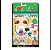 Melissa & Doug Melissa & Doug On the Go Resuable Sticker Pad - Pets Make-a-Face