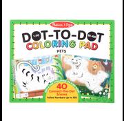 Melissa & Doug Melissa & Doug 1-50 50-100 Dot-to-Dot Coloring Pad - Pets