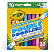 Crayola Crayola 10 Double Doodlers Dual-Ended Markers Washable