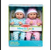 "Melissa & Doug Melissa & Doug Mine to Love Luke & Lucy 15"" Dolls"