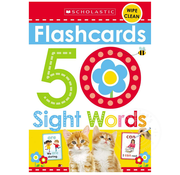 Scholastic 50 Sight Words Flashcards
