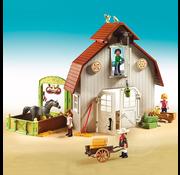 Playmobil Playmobil Spirit II Barn with Lucky, Pru & Abigail RETIRED