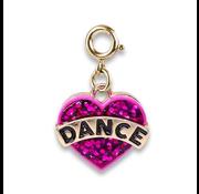 Charm It Charm It! Gold Glitter Dance Heart Charm