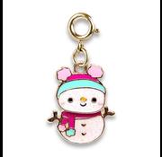 Charm It Charm It! Gold Swivel Snowman Charm