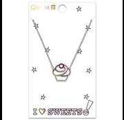 Charm It Charm It! Rhinestone Cupcake Necklace