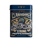 Clawhammer Organic Mints Stong Peppermint Candy Tin