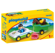 Playmobil Playmobil 123 Car with Horse Trailer