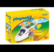 Playmobil Playmobil 123 Airplane with Passenger