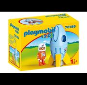 Playmobil Playmobil 123 Astronaut with Rocket