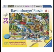 Ravensburger Ravensburger Vacation Hustle Floor Puzzle 24pcs