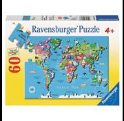 Ravensburger Ravensburger World Map Puzzle 60pcs