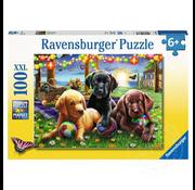 Ravensburger Ravensburger Puppy Picnic Puzzle 100pcs XXL