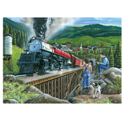 Cobble Hill Puzzles Cobble Hill Steaming Out of Town Easy Handling Puzzle 275pcs