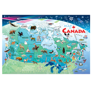 Cobble Hill Puzzles Cobble Hill Map of Canada Floor Puzzle 48pcs