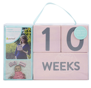 Age Milestone Blocks Set - Wooden, Pink