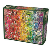 Cobble Hill Puzzles Cobble Hill Colourful Rainbow Puzzle 1000pcs