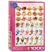 Eurographics Eurographics Ice Cream Flavors Celebration - Sweet Collection Puzzle 1000pcs