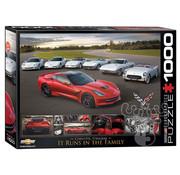 Eurographics Eurographics 2014 Corvette Stingray It Runs in the Family Puzzle 1000pcs
