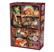 Cobble Hill Puzzles Cobble Hill Feline Bookcase Puzzle 2000pcs