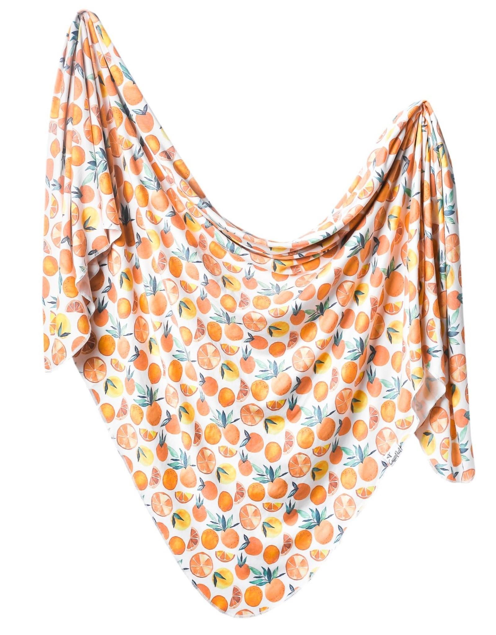 Copper Pearl Citrus Swaddle Blanket Copper Pearl