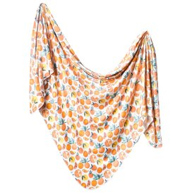 Copper Pearl Citrus Swaddle Blanket Copper Pearl