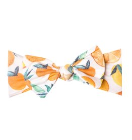 Copper Pearl Citrus Headband Bow