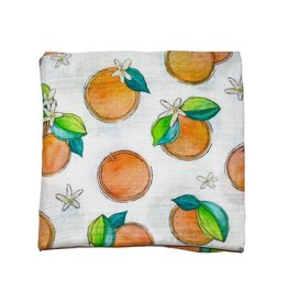 Florida Kid Co. Orange Blossom Swaddle Blanket