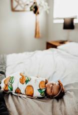 Florida Kid Co. Orange Blossom Swaddle Blanket