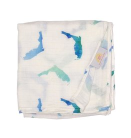 Florida Kid Co. Florida Swaddle Blanket Blue