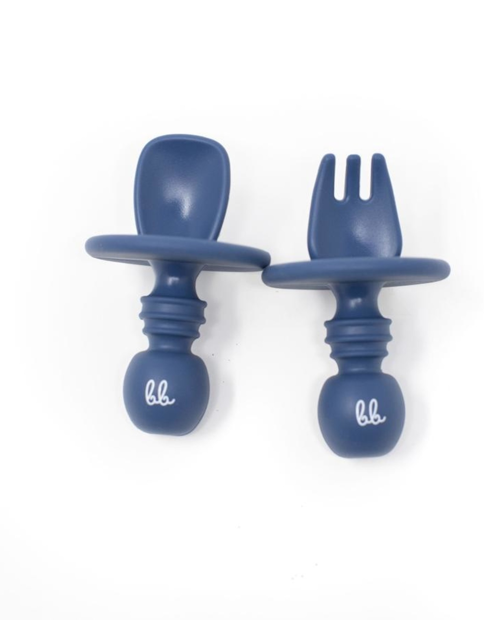 Three Hearts Silicone Spoon & Fork Set (Silitensils by Baby Bar)