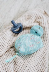 Itzy Ritzy Pacifier Set Robin's Egg Blue & Navy Cable