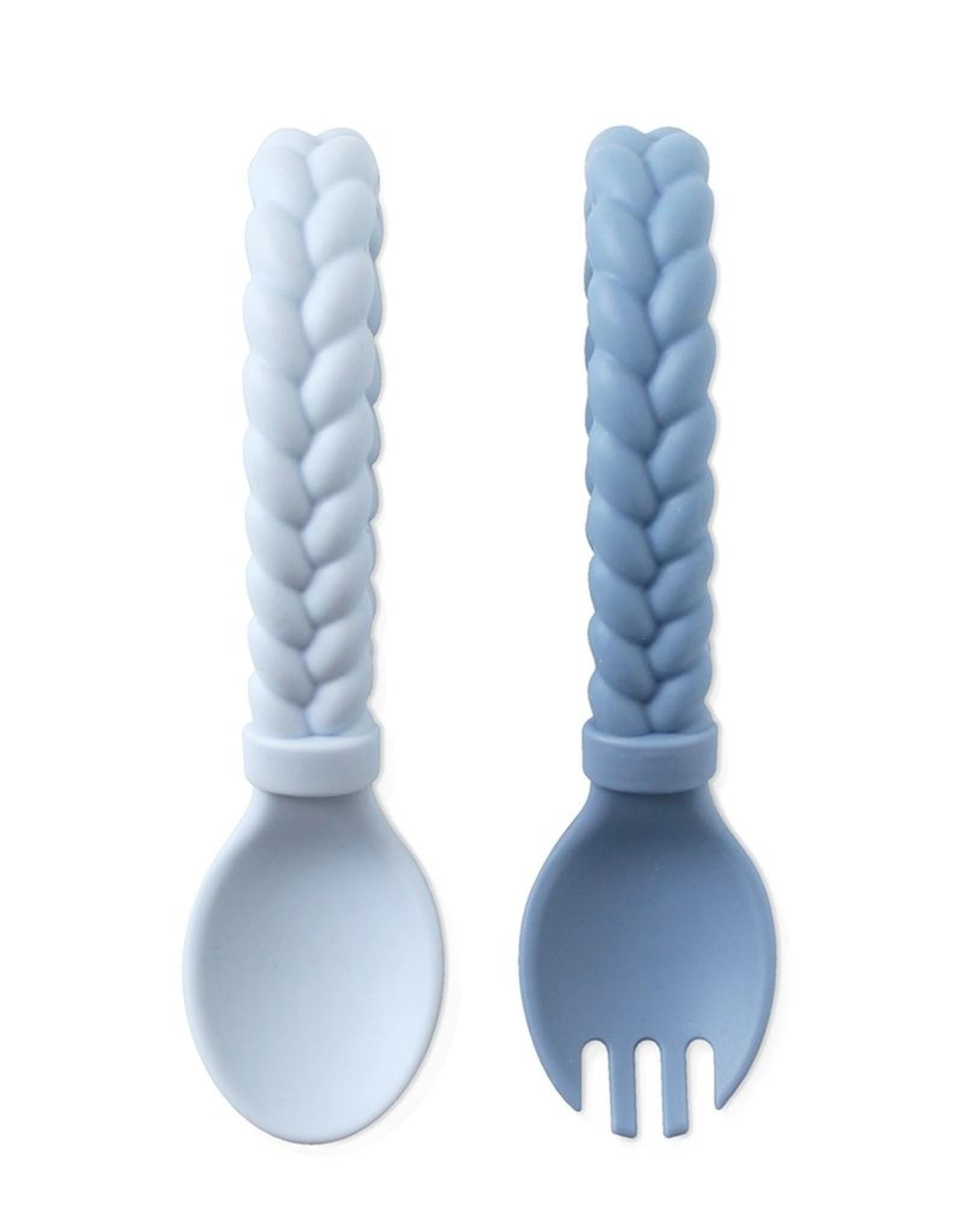 Itzy Ritzy Sweetie Spoon & Fork Set Blue