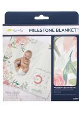 Itzy Ritzy Milestone Blanket - Floral