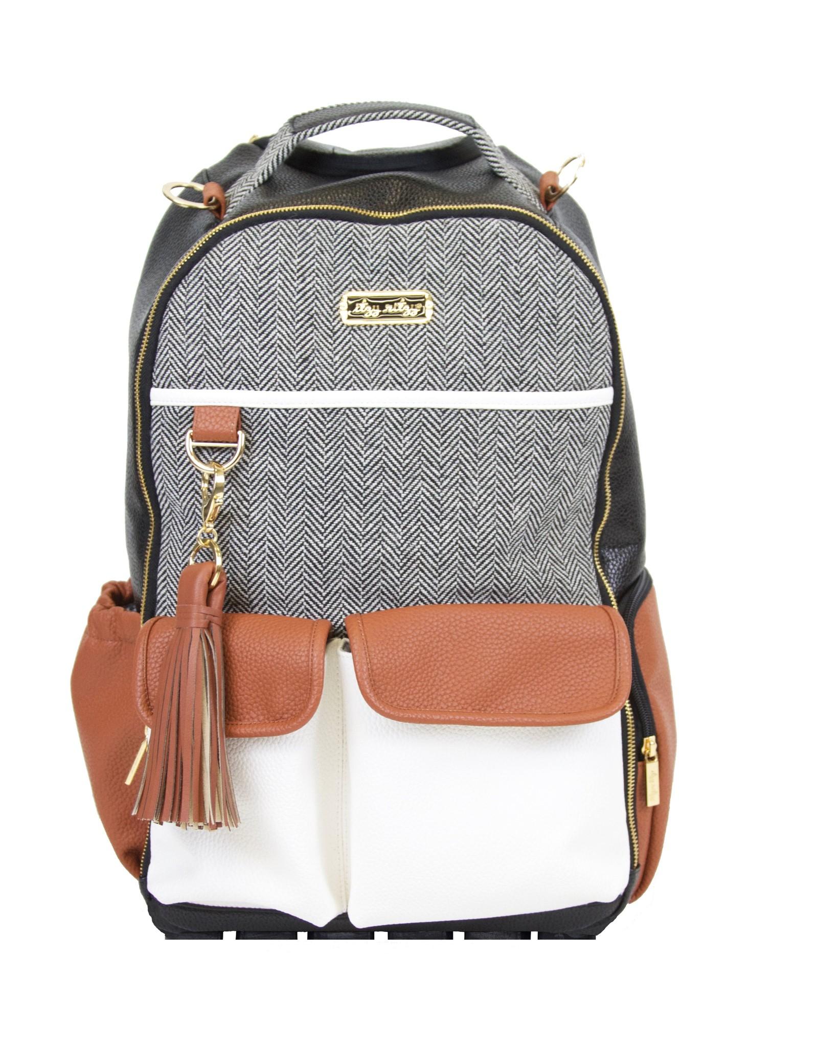 Itzy Ritzy Coffee & Cream Boss Backpack Diaper Bag