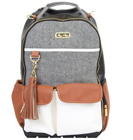 Itzy Ritzy Coffee & Cream Boss Backpack Diaper Bag
