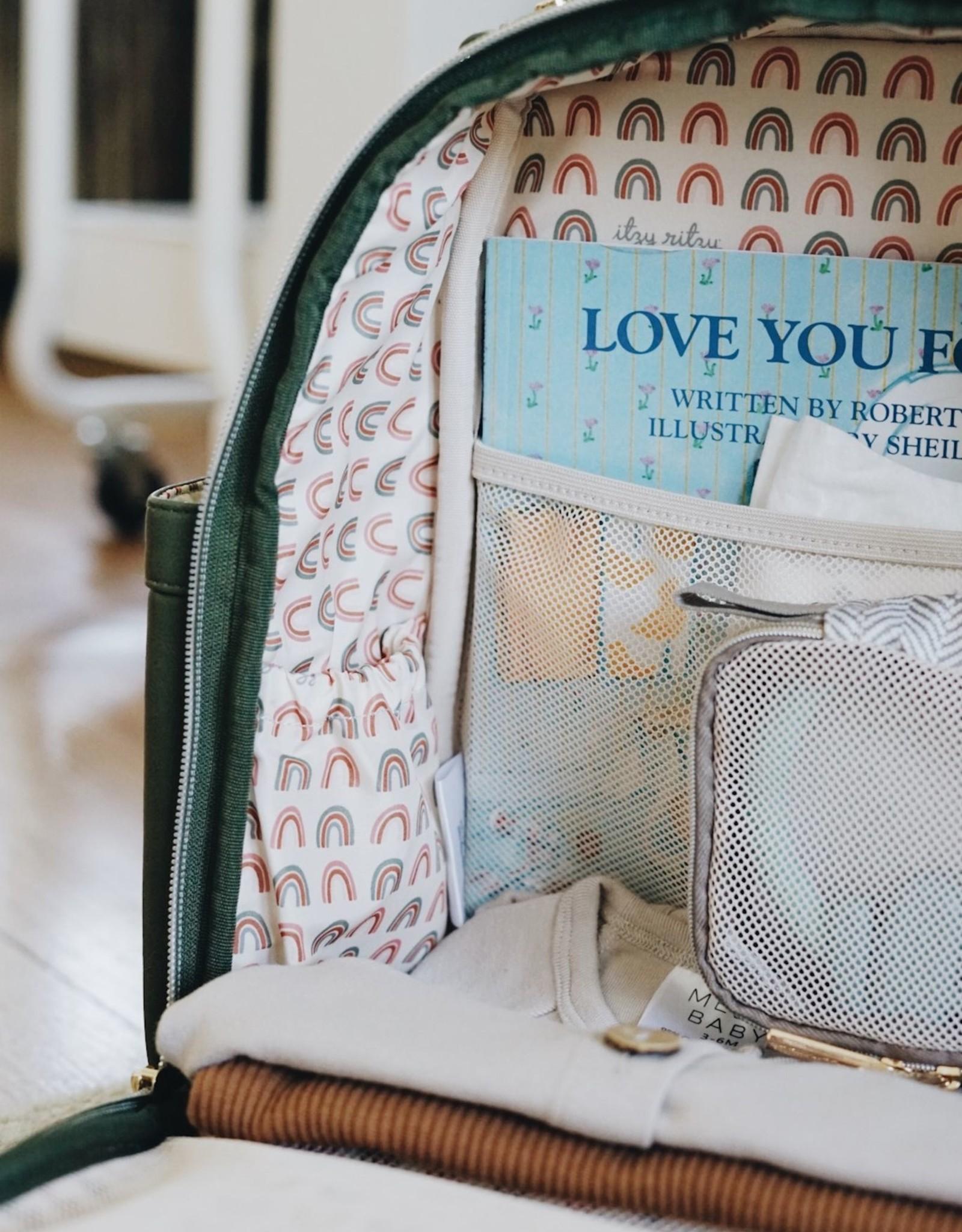 Itzy Ritzy Olive Mini Diaper Bag Backpack