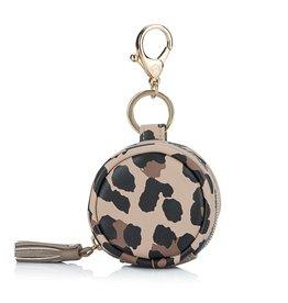 Itzy Ritzy Leopard Paci Pod Bag Pod Keychain