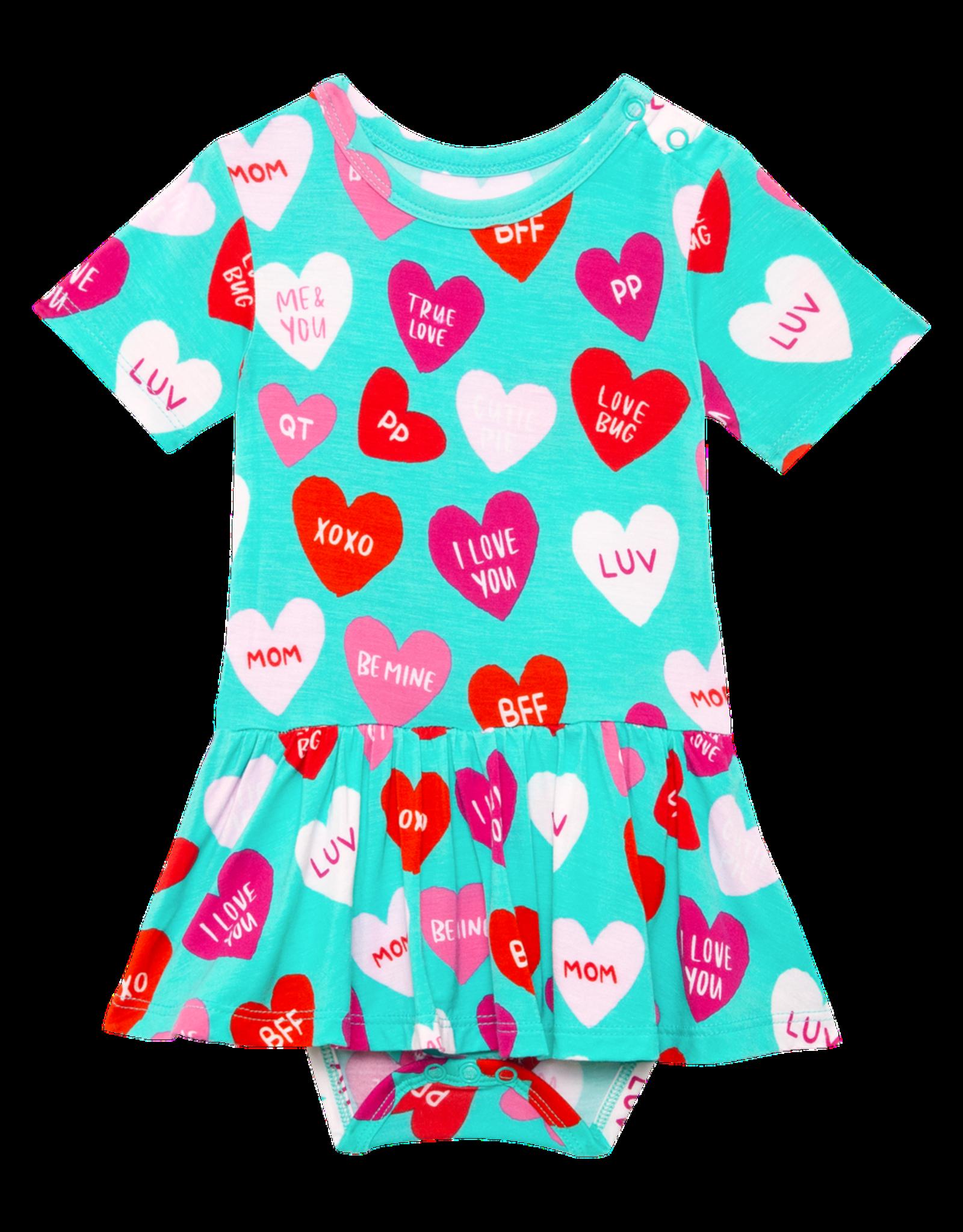 Posh Peanut Valerie - Short Sleeve Twirl Skirt Bodysuit