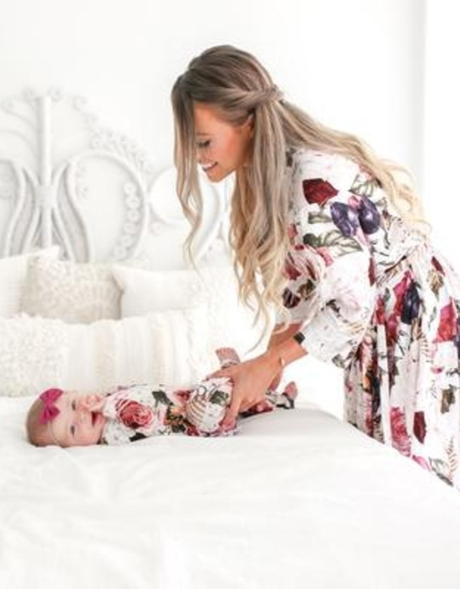Posh Peanut Mommy Robe - Black Rose