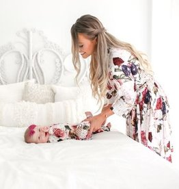 Posh Peanut Mommy Robe - Black Rose (Large)