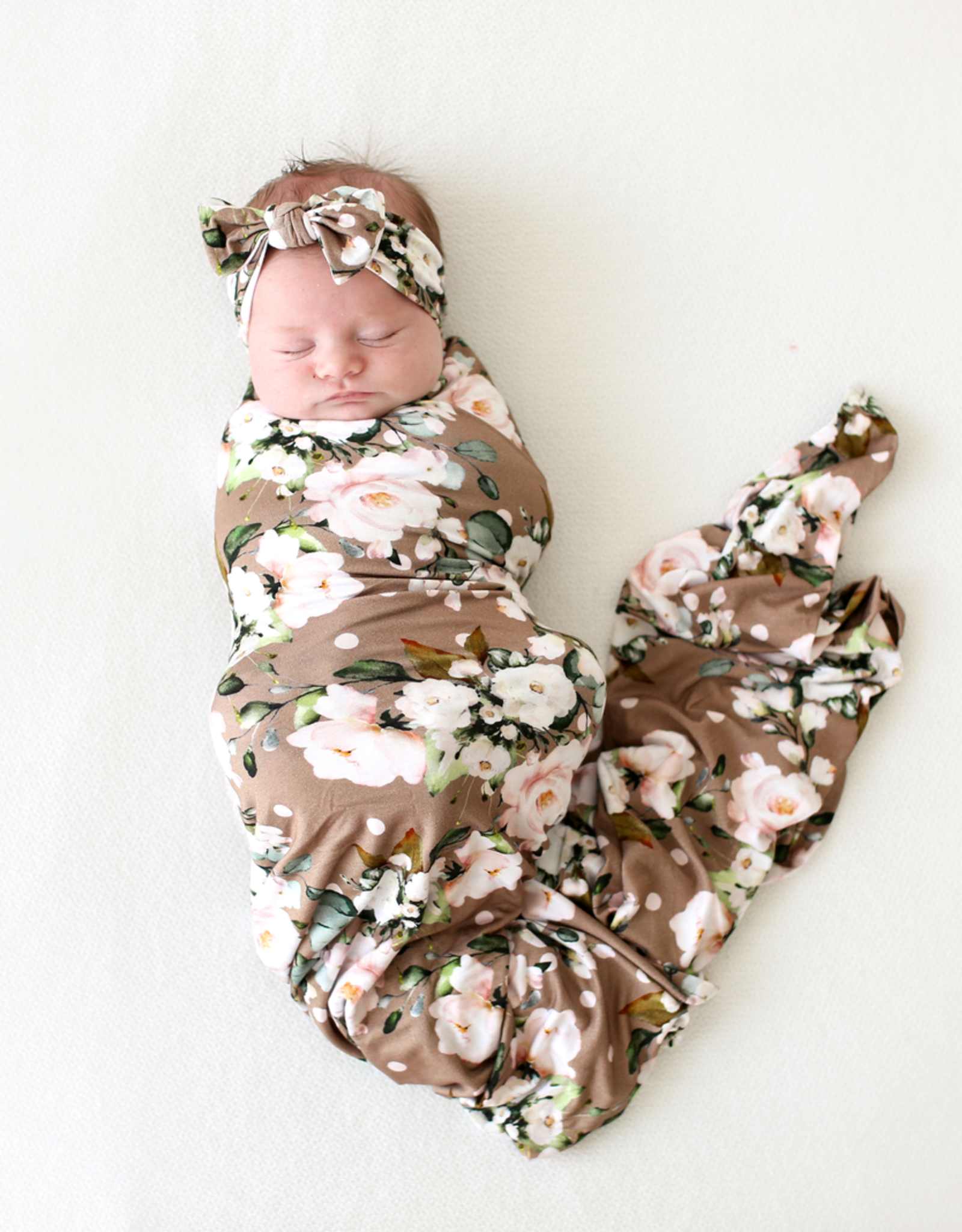 Posh Peanut Leona Infant Swaddle & Headwrap Set