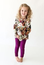 Posh Peanut Corinne Lngsleeve Peplum Top & Legging Set - Toddler