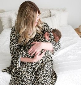 Posh Peanut Mommy Robe - Lana Leopard
