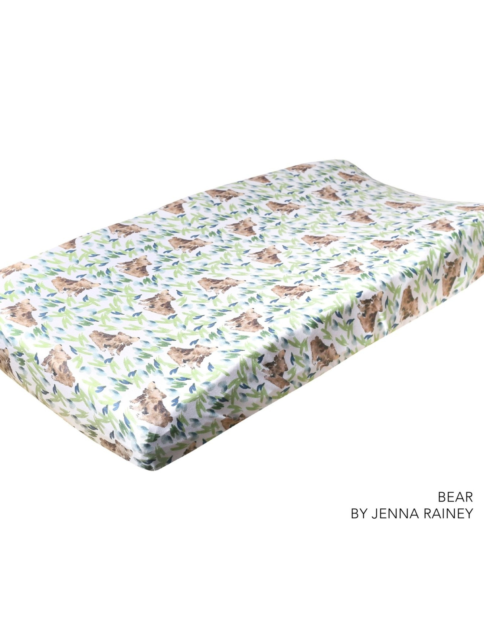 Copper Pearl Bear Premium Changing Pad Cover - Copper Pearl